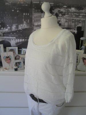 COMMA♡ Edler Sommer Pullover m. Top ♡ weiß semitransparent♡42 NEU