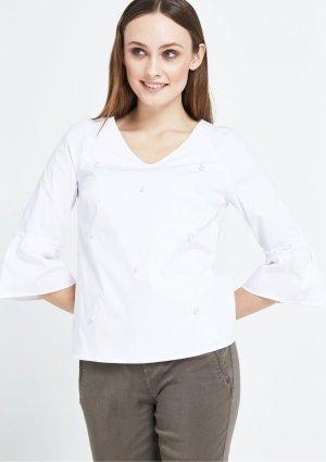 COMMA Elegante 3/4-Arm Bluse mit Perlenverzierungen Gr. 38 Neu mit Etikett