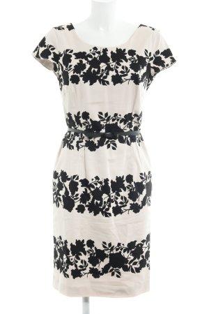 Comma Sheath Dress dusky pink-black floral pattern business style