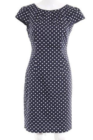 Comma Manteljurk donkerblauw-wit kleurvlekken patroon elegant