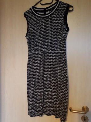 Comma Vestido ceñido de tubo blanco-azul oscuro