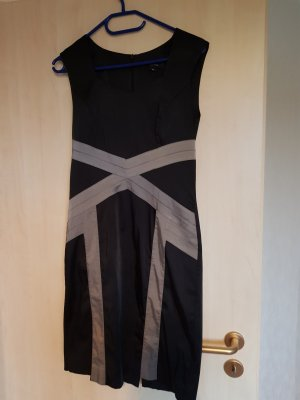 Comma Vestido ceñido de tubo negro-gris