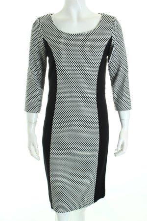 Comma Etuikleid schwarz-weiß abstraktes Muster klassischer Stil