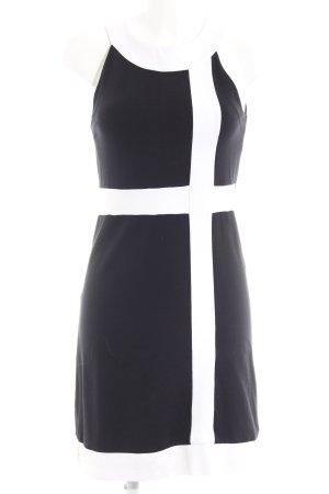 Comma Etuikleid schwarz-weiß Elegant