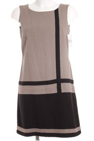 Comma Etuikleid taupe-schwarz Streifenmuster schlichter Stil