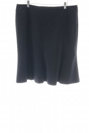 Comma Plaid Skirt dark blue business style