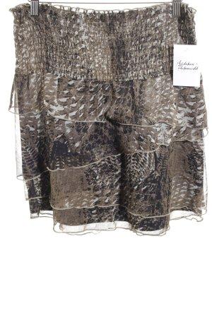 Comma Jupe à plis marron clair-noir style décontracté