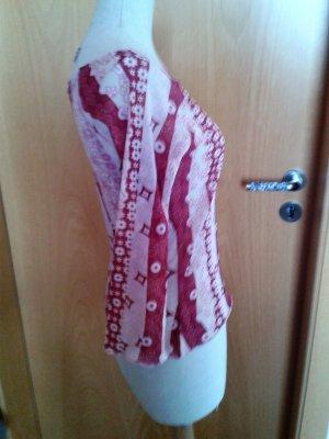 Comma,federleichtes, langärmliges Shirt in angenehmen rotbraun Tönen