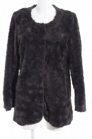 Comma Fur Jacket dark grey casual look
