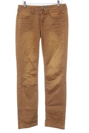 Comma Pantalone cinque tasche marrone chiaro stile da moda di strada