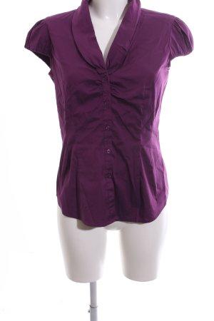 Comma Glanzende blouse lila zakelijke stijl