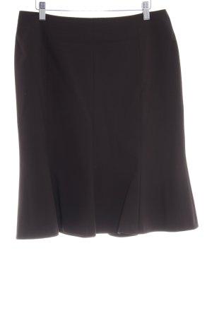 Comma Flared Skirt dark brown