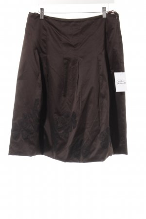 Comma Falda acampanada marrón oscuro estilo clásico