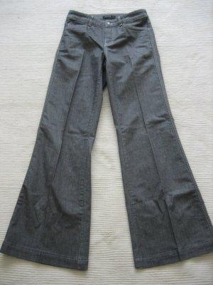 Comma Pantalon pattes d'éléphant gris