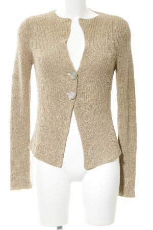 Comma Coarse Knitted Jacket cream cable stitch casual look