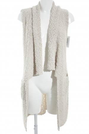 Comma Coarse Knitted Jacket beige-cream flecked fluffy