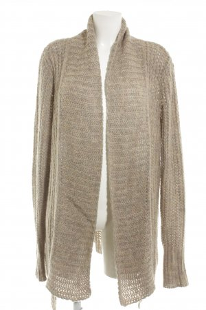 Comma Coarse Knitted Jacket grey brown-pink casual look