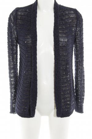 Comma Cardigan all'uncinetto blu scuro stile casual