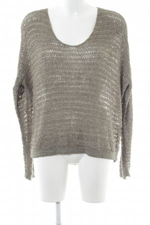 Comma Crochet Sweater sage green casual look