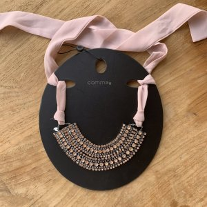 Comma Collier Necklace pink-dusky pink glas