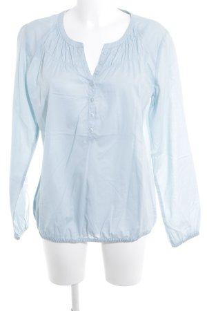 Comma Blouse-chemisier bleu clair style décontracté