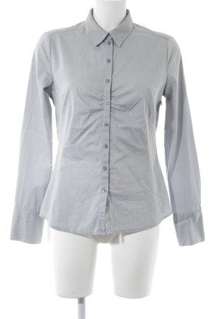 Comma Hemd-Bluse grau meliert Elegant