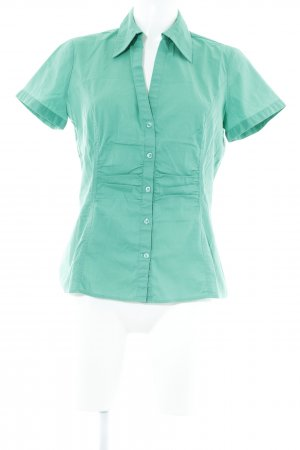 Comma Hemd-Bluse grün schlichter Stil