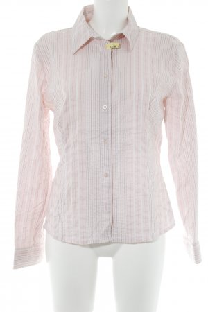 Comma Hemd-Bluse hellrosa-wollweiß Streifenmuster Elegant