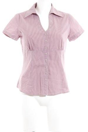 Comma Blouse-chemisier violet-rose motif rayé élégant