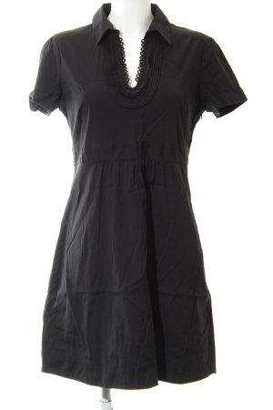 Comma Robe chemise noir style décontracté