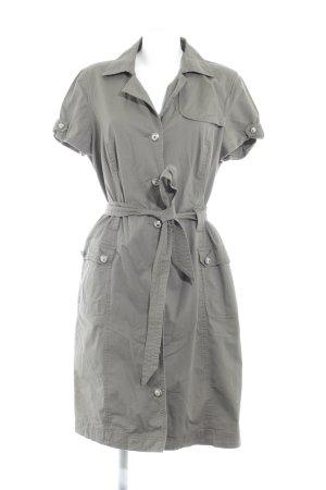 Comma Abito blusa camicia grigio-verde stile da moda di strada