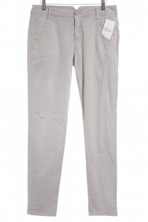 Comma Hoge taille broek lichtgrijs simpele stijl