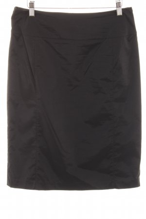 Comma High Waist Rock schwarz Elegant