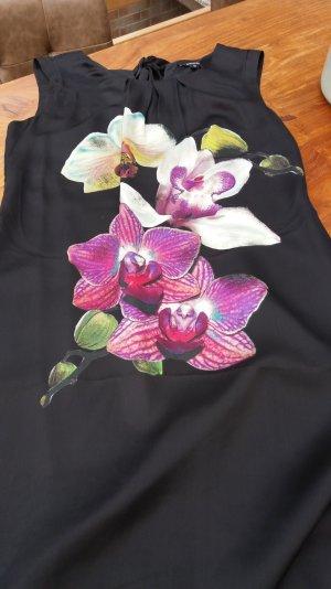 Comma  Hingucker ..... ein elegantes Kleid in schwarz, florales Motiv