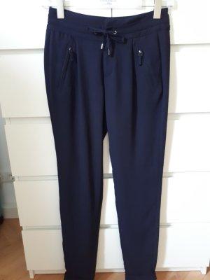 Comma Stoffen broek donkerblauw