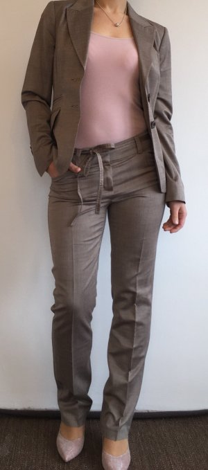 Comma Trouser Suit grey brown new wool