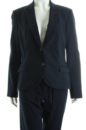 Comma Traje de pantalón azul oscuro-magenta raya diplomática
