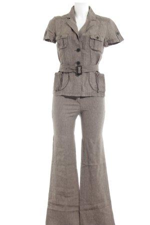Comma Traje de pantalón marrón grisáceo look casual