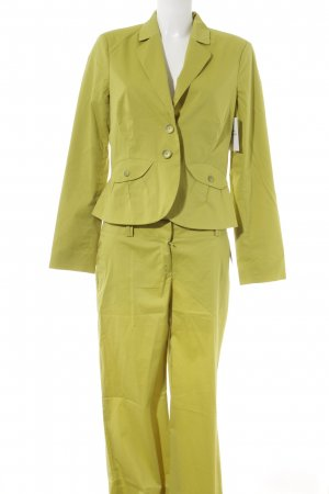 Comma Trouser Suit lime yellow business style