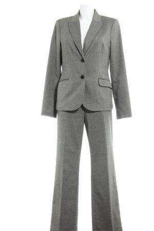 Comma Tailleur-pantalon noir-gris moucheté style d'affaires