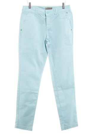 Comma Pantalone a vita bassa celeste stile semplice