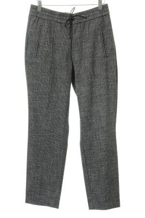 Comma Pantalon taille basse gris clair-noir motif pied-de-poule