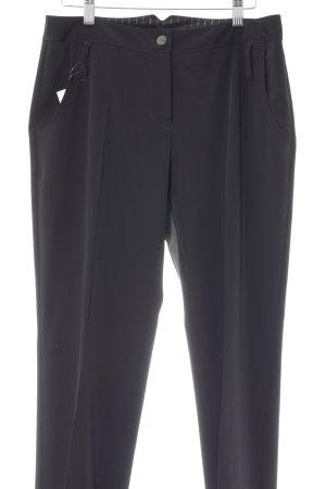 Comma Pantalone a vita bassa nero stile professionale