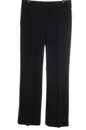 Comma Hüfthose schwarz-silberfarben Streifenmuster Business-Look