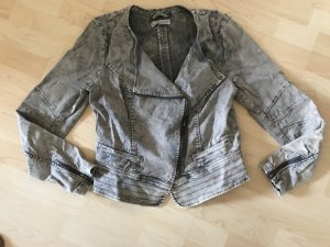 Comma Biker Jacket silver-colored-grey