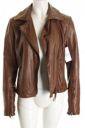 Comma Jacke graubraun Street-Fashion-Look