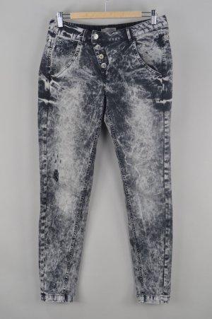 Comma Jeans auffällige Waschung grau Größe 38
