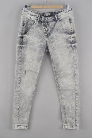 Comma Jeans auffällige Waschung hell grau Größe 38