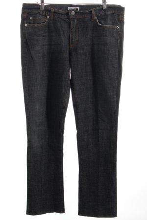 Comma Jeans dunkelblau-wollweiß Washed-Optik