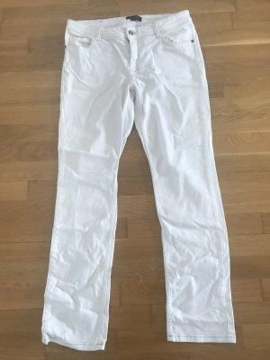 Comma Straight Leg Jeans white cotton